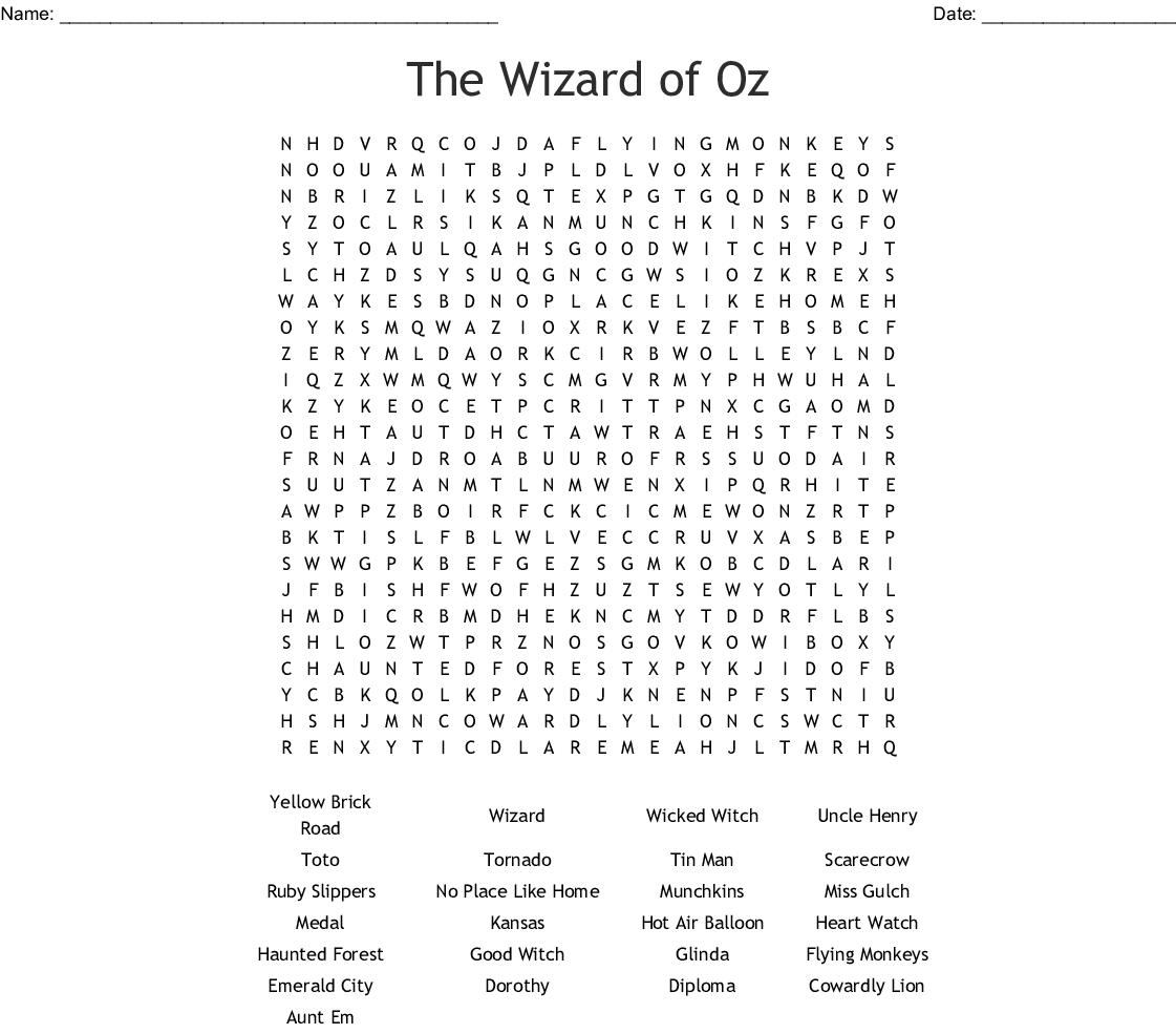Wizard Of Oz Crossword