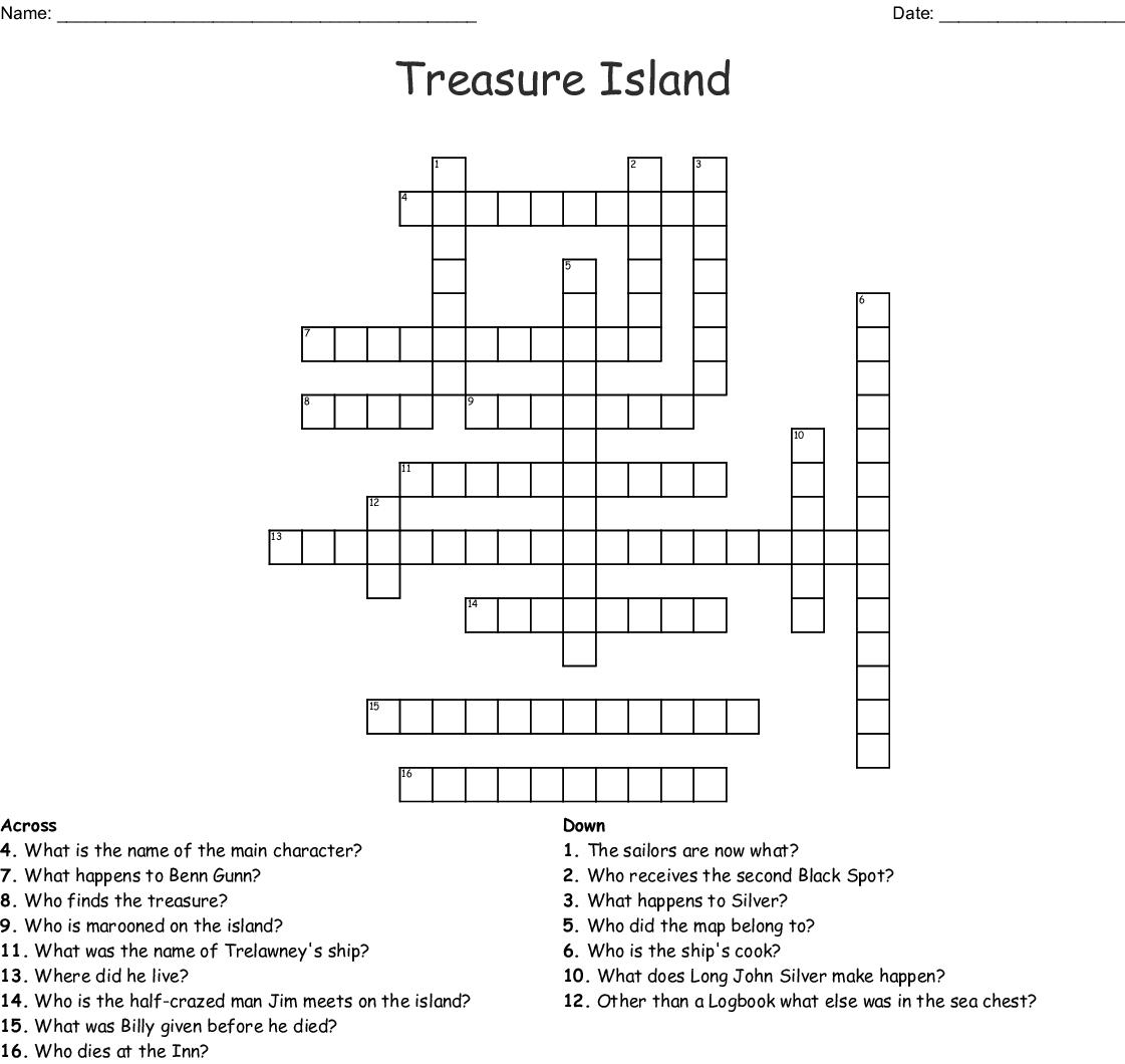 Treasure Island Crossword