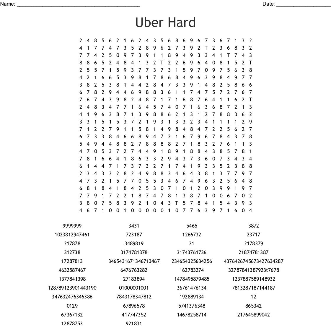 Uber Hard Word Search