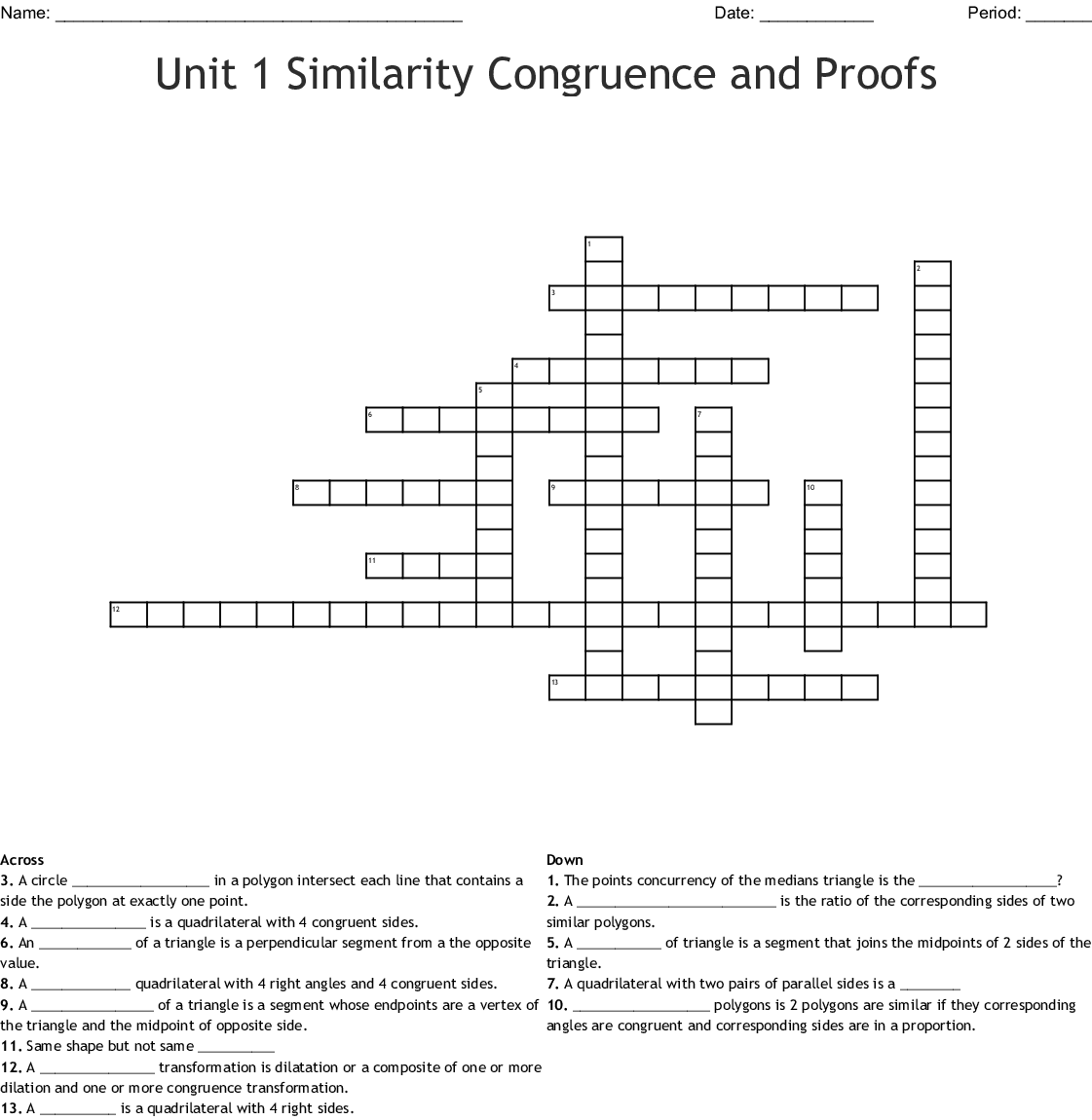 Similarity Congruence And Proofs