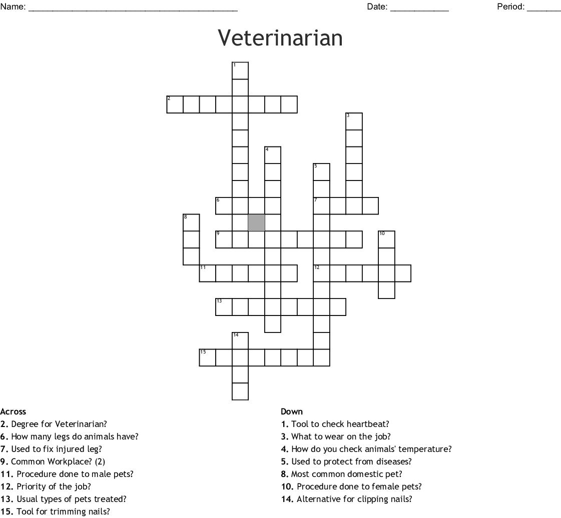Veterinarian Crossword