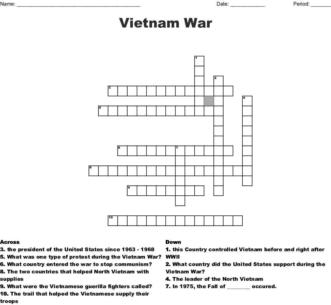 Vietnam War Worksheets Origins Of The Cold War
