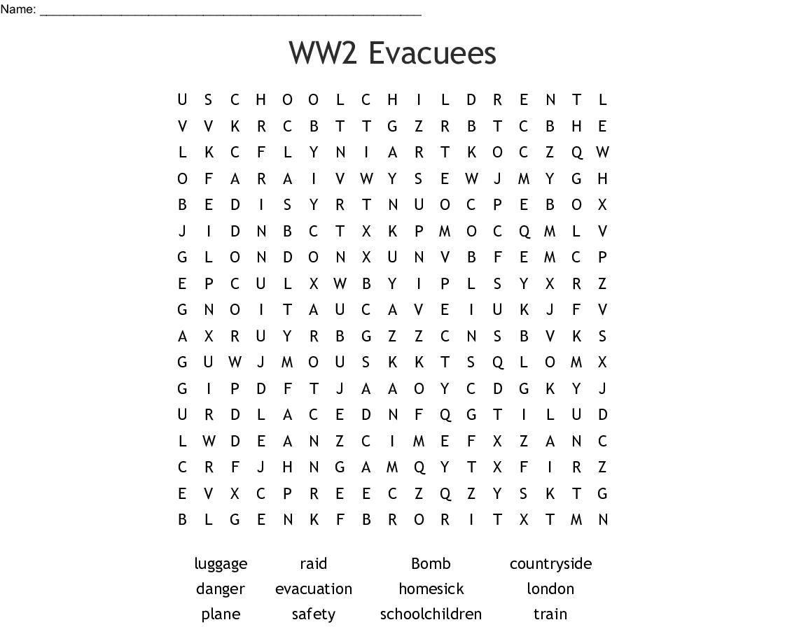 World War Ii Key Words Crossword