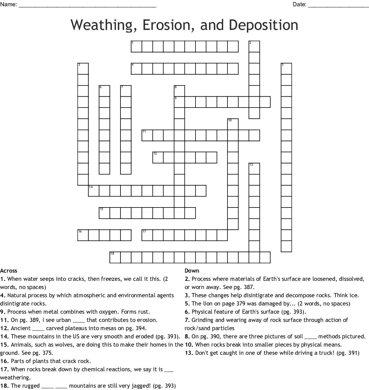 S5e1a Constructive And Destructive Forces Crossword