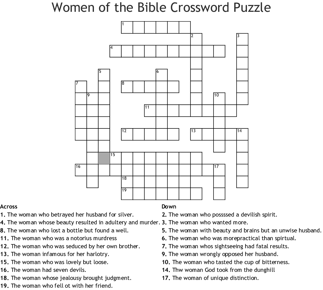 Dynamite Bible Crossword Puzzles Printable With Answers