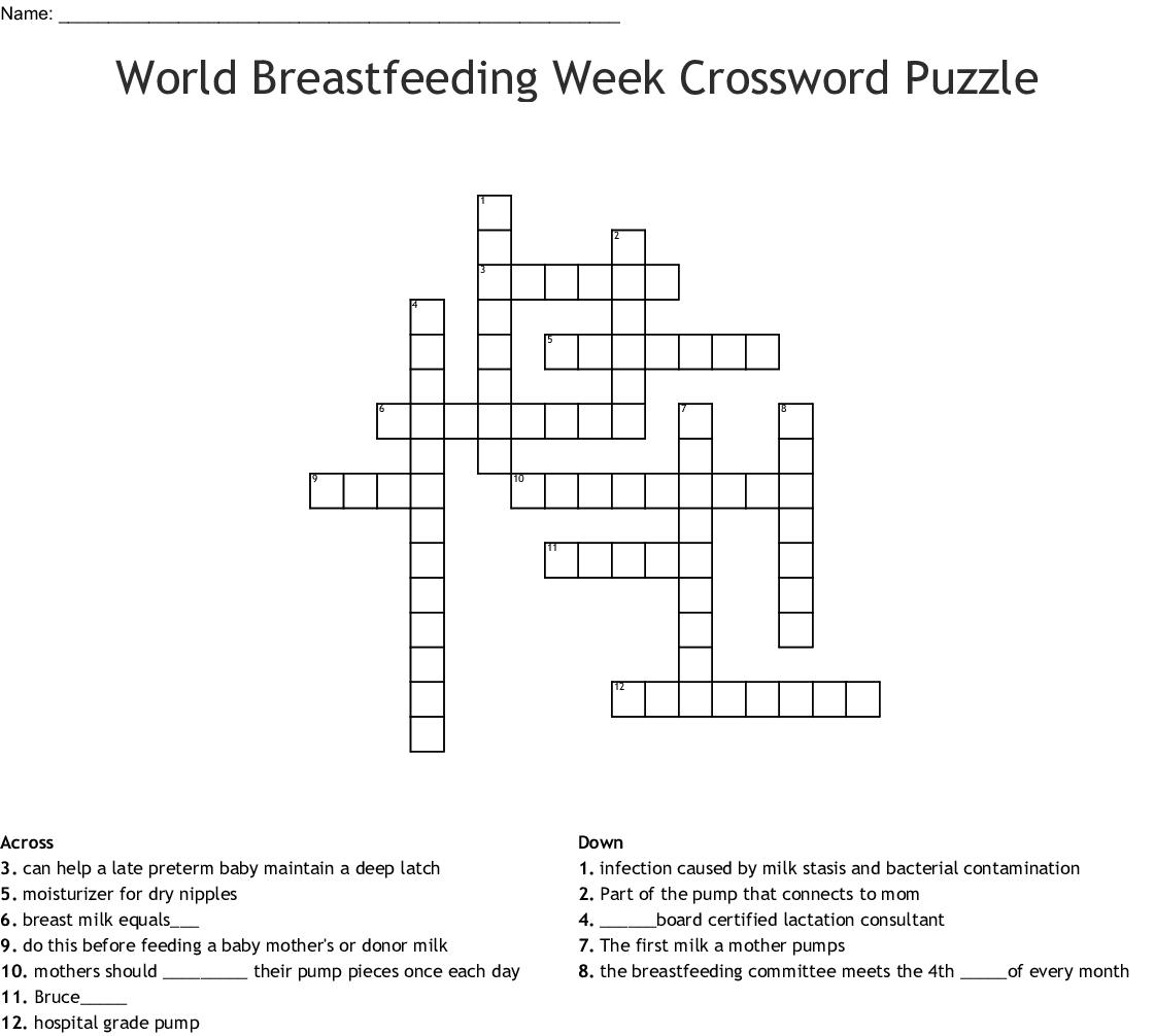 Breastfeeding Crossword
