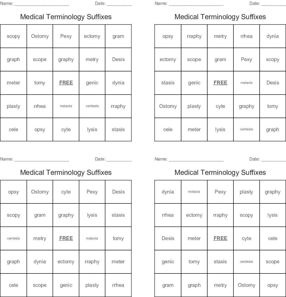 Understanding Suffixes Crossword