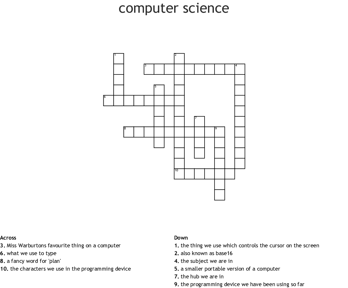 Computers Amp Electronics Crosswords Word Searches Bingo