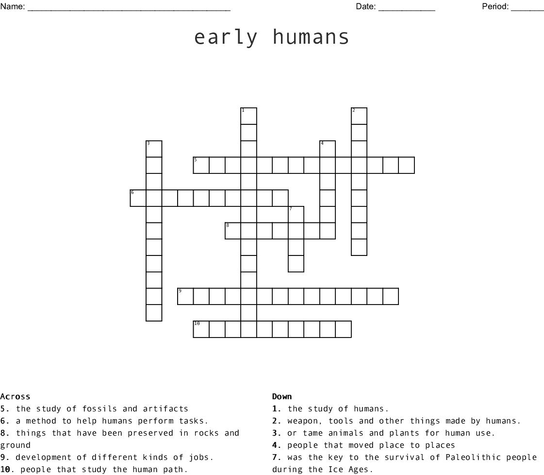 The Beginning Of Civilizations Crossword