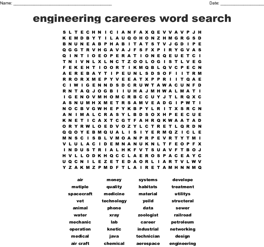 Engineering Word Search