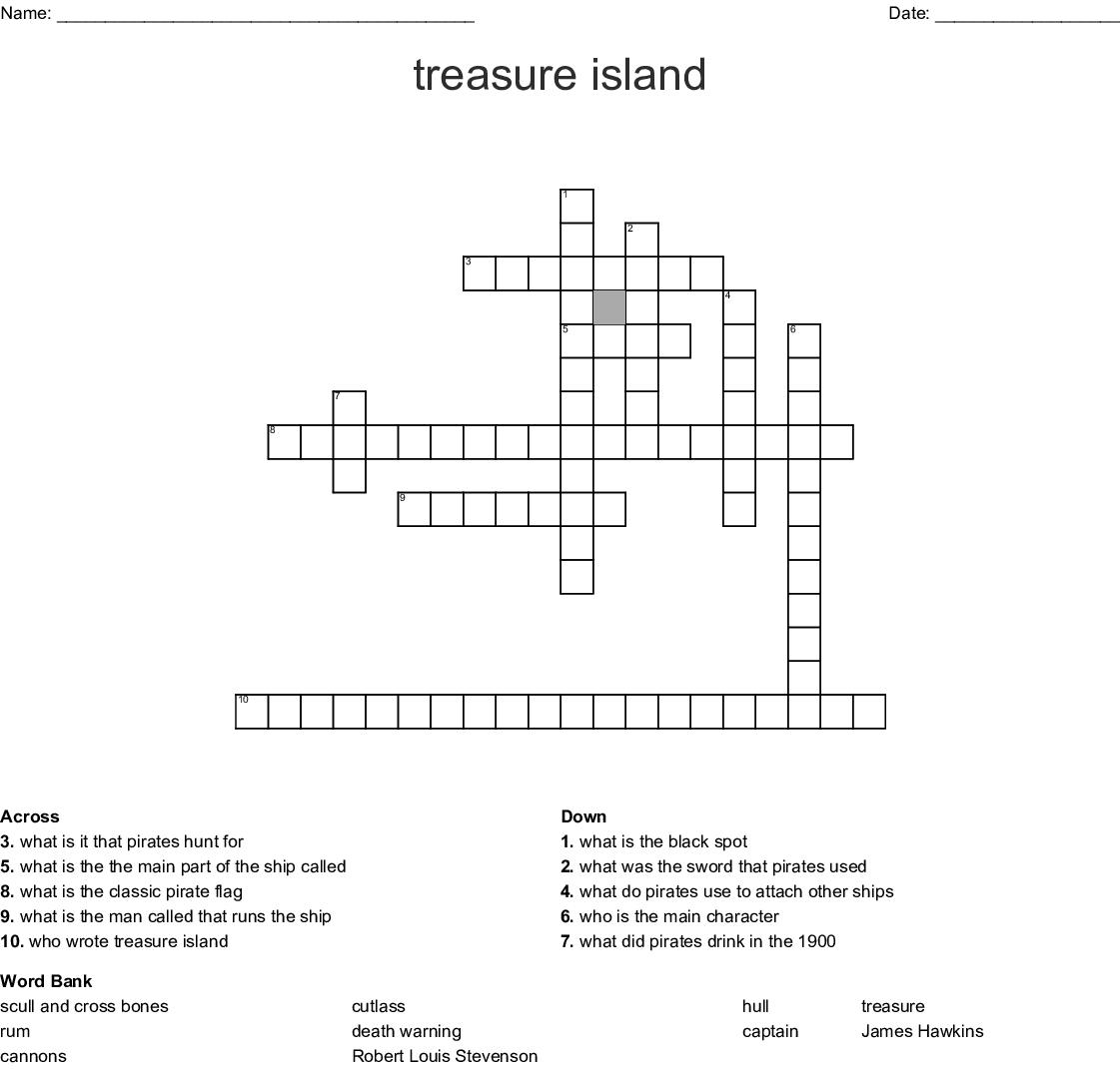 Treasure Island Word Search