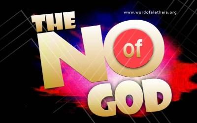 "The ""No"" of God"