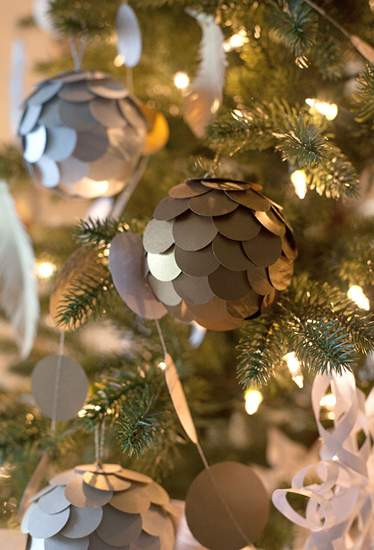 Kağıt Fotoğraflı Noel Süslemeleri 43