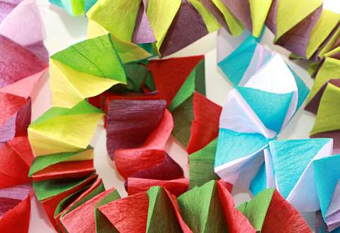 Kağıt fotoğrafından ellerinizle yeni yıl için süslemeler 88