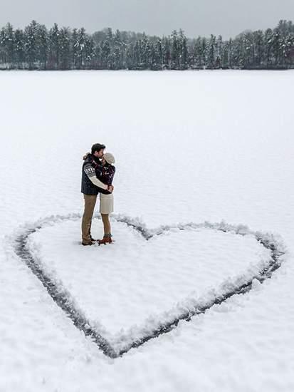зимняя свадебная фотосессия фото 89