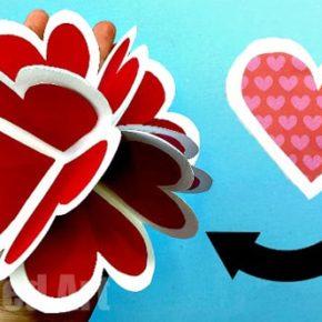 как сделать объемное сердце из бумаги фото 031