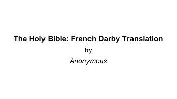 bible darby pdf