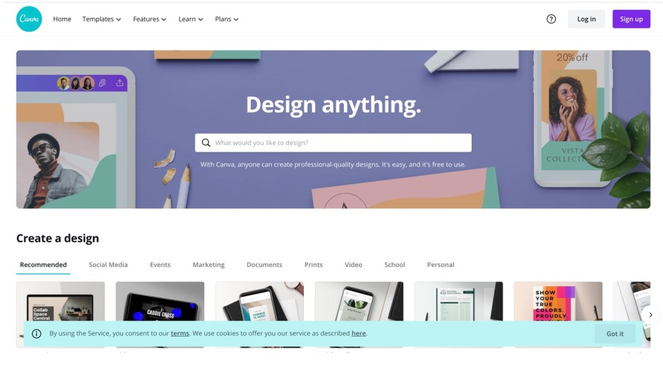 Canva Screenshot - Graphic Design Software For RE Syndicators