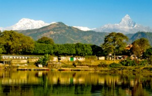 Pokhara, no Nepal