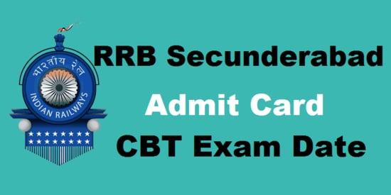 Railway RRB Secunderabad Admit Card