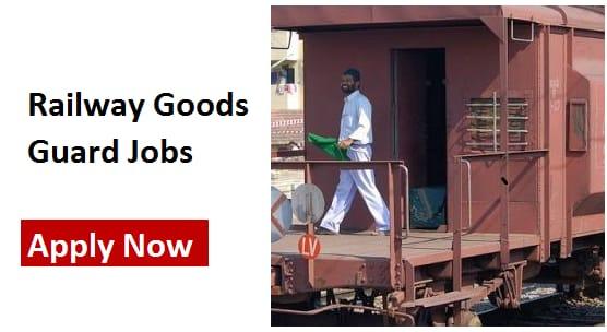railway goods guard jobs