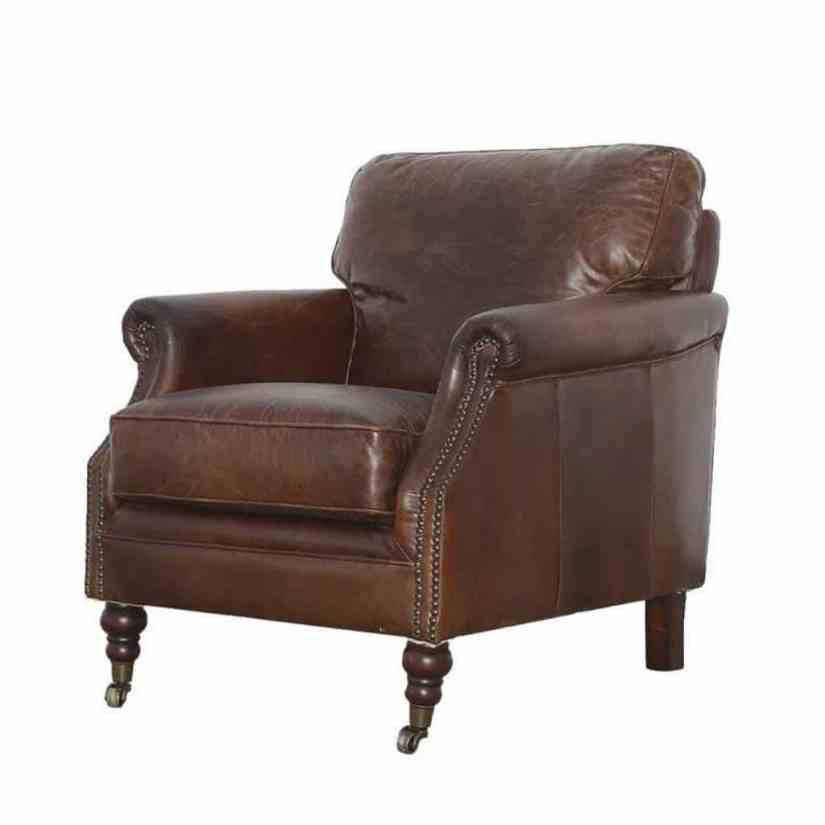 brown james chair leather