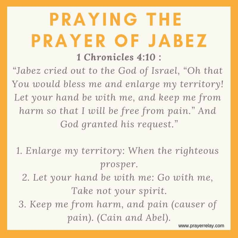 praying the prayer of Jabez: Oh that you would