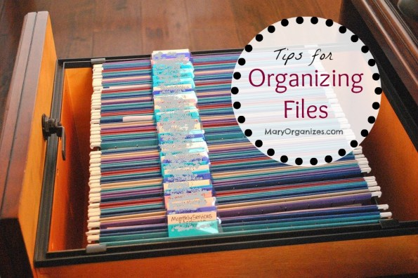 Tips for Organizing Files