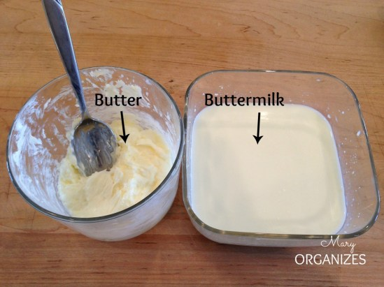 Heavy cream becomes Butter and Buttermilk