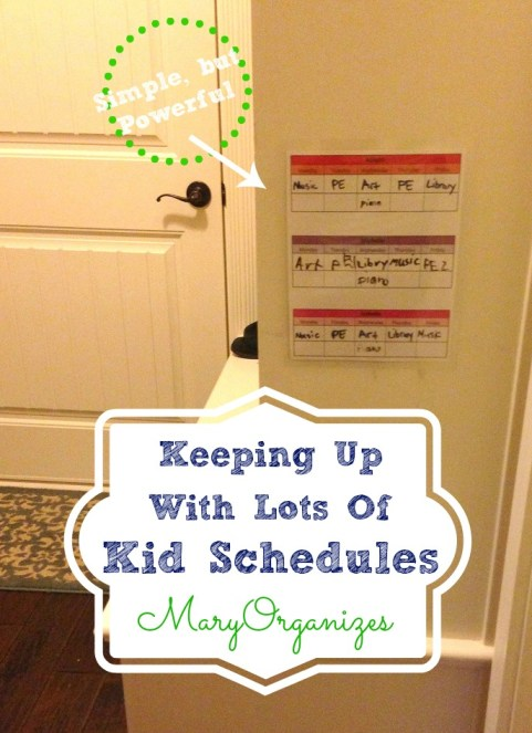 How to keep up with lots of kid schedules