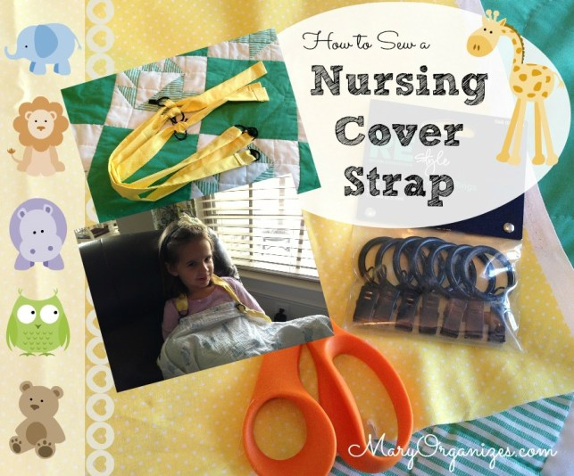 How to sew nursing cover straps