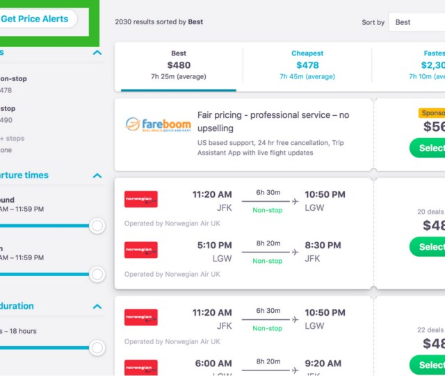 Just Remember That You Must Use The Exact Date And Airports To Set Up A Price Alert