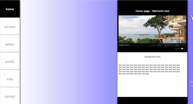 Blue-purple gradient - Simple template 3