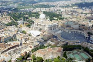 File photo of an aerial view of St. Peter's square in Rome