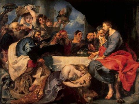 La pécheresse chez Simon, Rubens