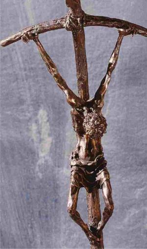 L'étoile à cinq branches ; croix tordue de Paul 6
