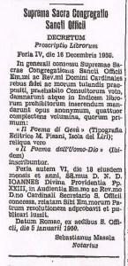 Osservatore Romano, le mercredi 6 janvier 1960, Decretum