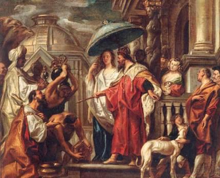 L'Hommage de Haroun Al-Rashid à Charlemagne par Jacob Jordaens