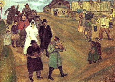 """Marc Chagall, """"Le mariage russe"""", 1909"""