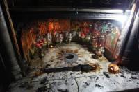 La Grotte de la Nativité prend feu après la visite de « Chaos Jorge »