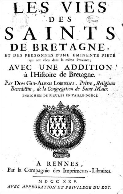 Vie de saint Donatien et saint Rogatien d'après Dom Lobineau