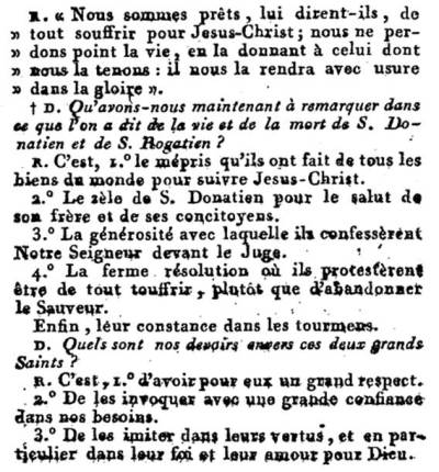 Catéchisme du Diocèse de Nantes qui date de 1788