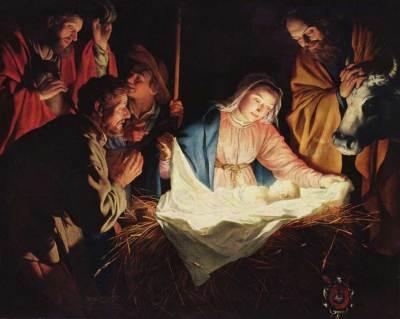 Gerard van Honthorst, l'Adoration des bergers
