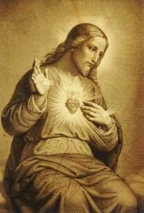 Gravure du Cœur Sacré de Jésus