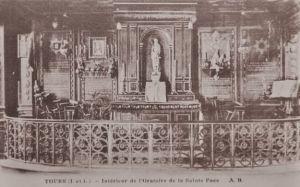 L'Oratoire de la Sainte Face, dans la maison de Monsieur Dupont à Tours, dans son état originel