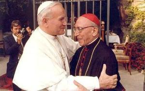 Jean Paul II et le cardinal Casarolli