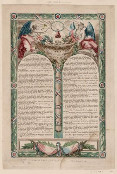 Déclaration des droits de l'homme et du citoyen, original