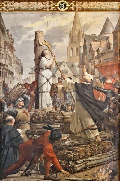 Sainte Jeanne d'Arc sur le bûcher