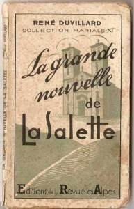 René Duvillard, La Grande Nouvelle de La Salette