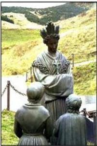 Notre Dame de La Salette et les deux petits bergers